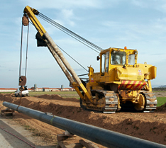 VISTA safety training products for pipe layer dozers