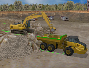hydraulic excavator simulator