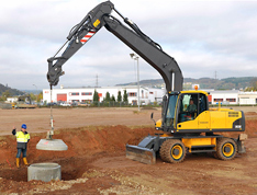 VISTA safety training products for wheeled excavators