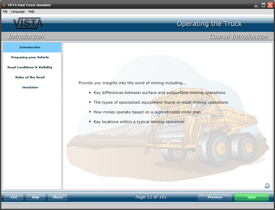 TruckLogic haul truck operator training curriculum