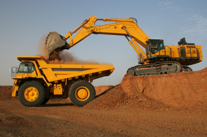 Bench loading a haul truck