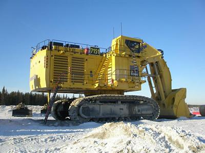 Winter start-up precautions for large mining equipment