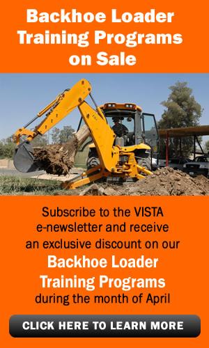 VISTA training programs on sale - April 2014 - backhoe loader