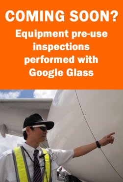 Google Glass for pre-use equipment inspections
