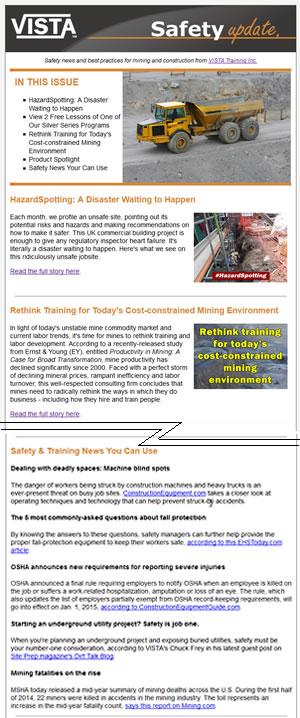 VISTA Safety Update newsletter
